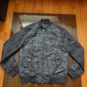 Members Only Men's Ma-1 Bomber Jacket Grey Camo M